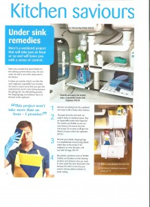Declutter and organise under the kitchen sink