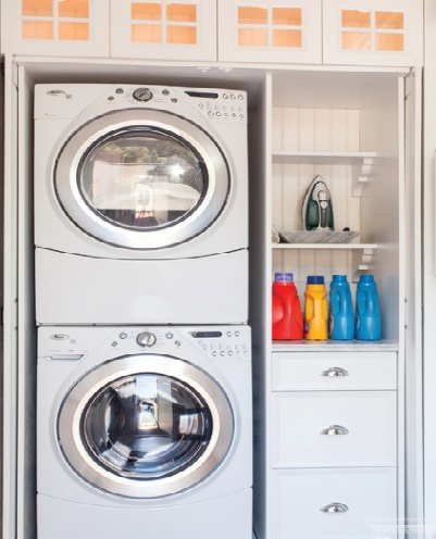 Space saving ways to organise your laundry