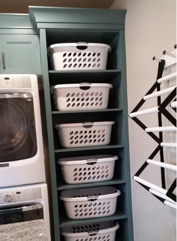 Baskets to help organise your laundry
