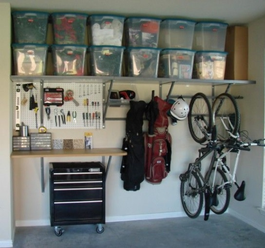An organised garage