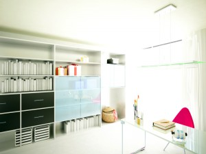 Organised home office without the clutter
