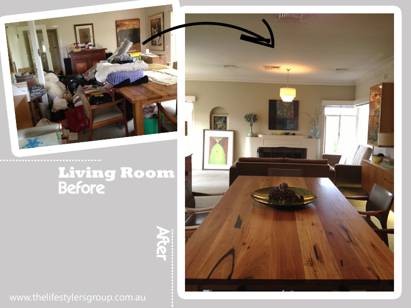 Living room after the declutter the lifestylers group - Declutter before and after ...