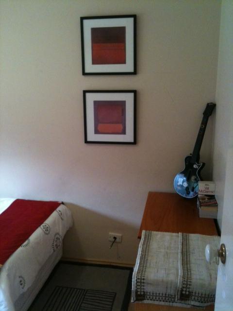 bedroom organising after