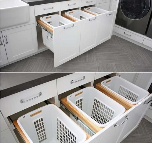Baskets to help keep your laundry organised